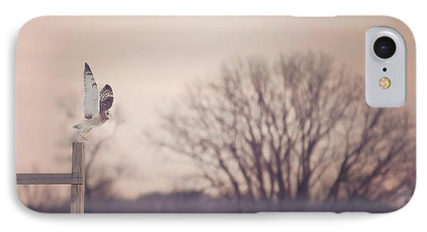 Short Eared Owl At Dusk IPhone Case by Carrie Ann Grippo-Pike