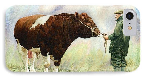 Shorthorn Bull Phone Case by Anthony Forster