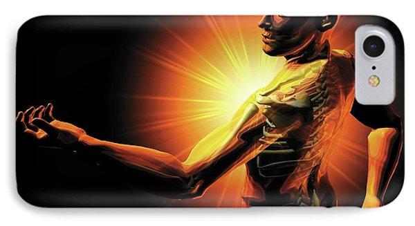 Shoulder Pain IPhone Case by Harvinder Singh
