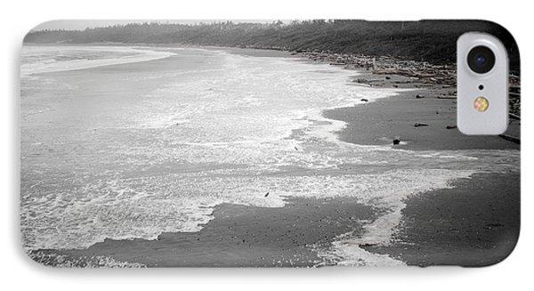 Winter At Wickaninnish Beach IPhone Case by Roxy Hurtubise