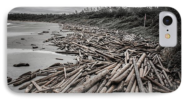 Shoved Ashore Driftwood  IPhone Case by Roxy Hurtubise