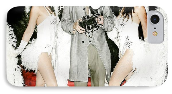 Showgirls And Photographer With Polaroid Phone Case by Nina Prommer
