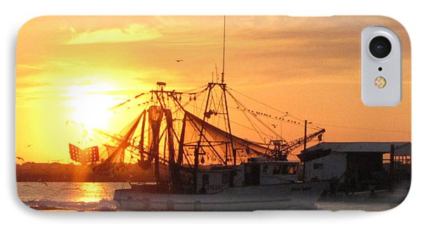 IPhone Case featuring the photograph Shrimp Boat At Sargent   by Jimmie Bartlett