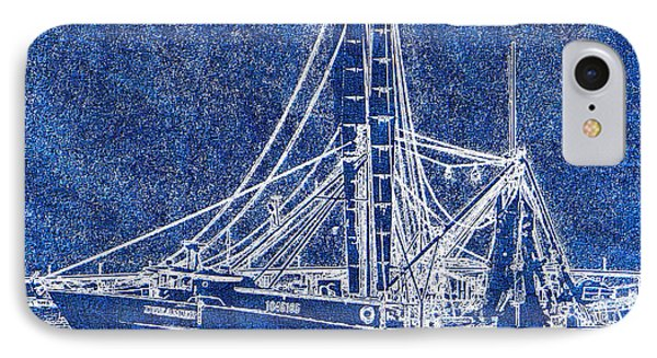 Shrimp Boat - Dock - Coastal Dreaming IPhone Case by Barry Jones