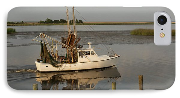 Shrimp Boat On Apalachicola Bay IPhone Case by Jim West
