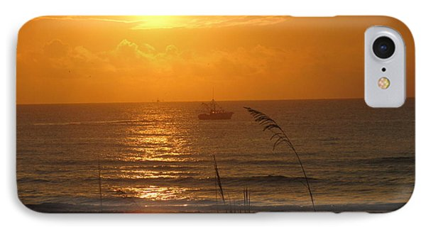 Shrimp Boat Sunrise IPhone Case