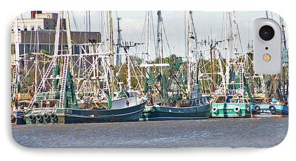 Shrimp Boats 3 Port Arthur Texas IPhone Case by D Wallace
