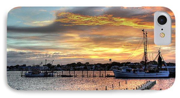 Shrimp Boats At Sunset Phone Case by Benanne Stiens