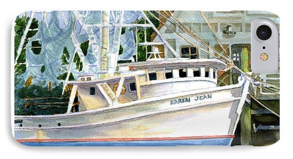 Shrimper Karen Jean IPhone Case