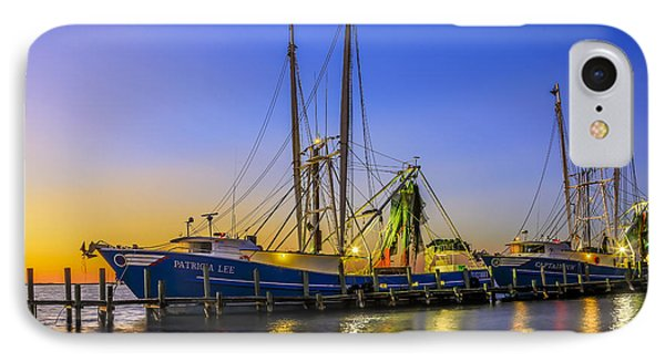 IPhone Case featuring the photograph Shrimp Boat Sunset by Paula Porterfield-Izzo