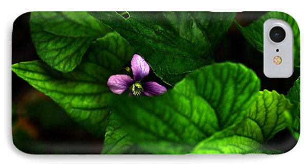 IPhone Case featuring the photograph Shrinking Violet by Wanda Brandon