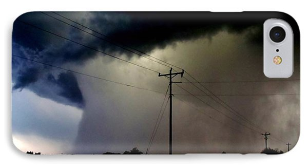 IPhone Case featuring the photograph Shrouded Tornado by Ed Sweeney