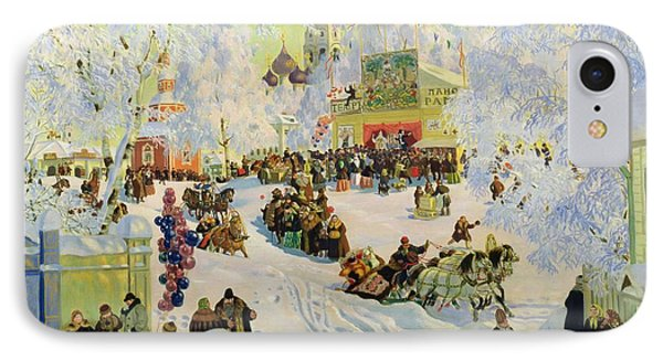 Shrove-tide IPhone Case by Boris Mikhailovich Kustodiev