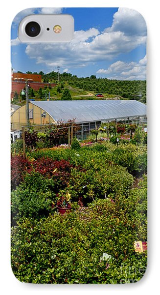 Shrubbery At A Greenhouse Phone Case by Amy Cicconi