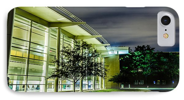 Shs Lower Cafeteria At Night IPhone Case by Alan Marlowe