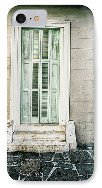 IPhone Case featuring the photograph Shuttered Doors by Heather Green