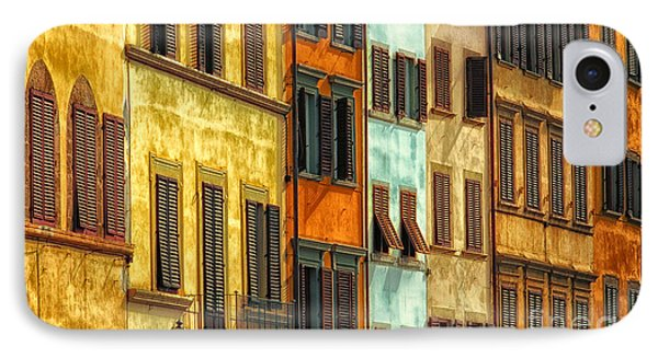 Shuttered Windows Of Florence Phone Case by Mike Nellums