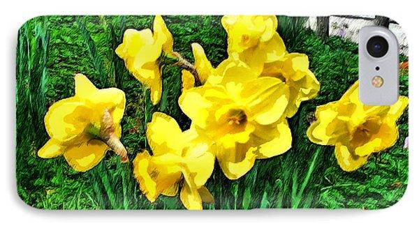 Shy Daffodils  IPhone Case