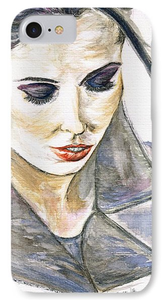 Shy Lady IPhone Case by Teresa White