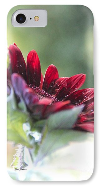 IPhone Case featuring the photograph Shy Sunflower by Yumi Johnson