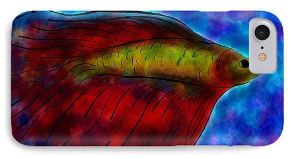 Siamese Fighting Fish II Phone Case by Anita Lewis