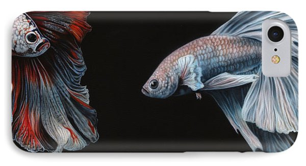 Siamese Fighting Fish  IPhone Case by Wayne Pruse