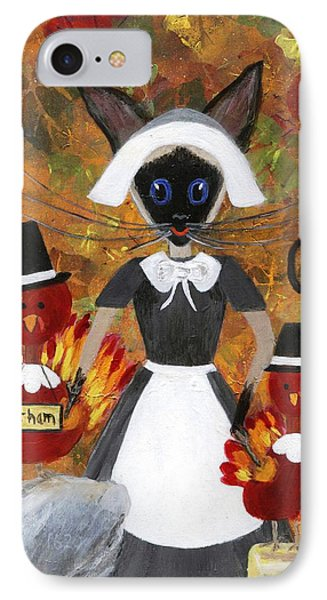 Siamese Queen Of Thanksgiving Phone Case by Jamie Frier