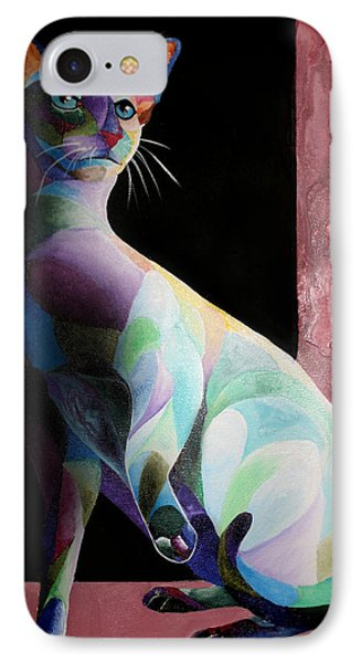 Siamese Shadow Cat 1 IPhone Case by Sherry Shipley