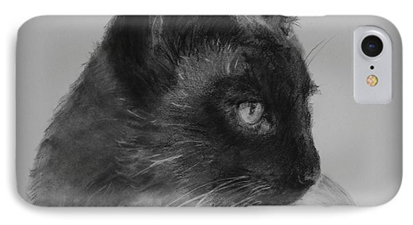 Siamese Silence IPhone Case by Michelle Wolff