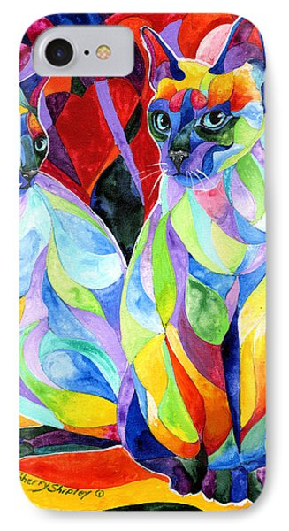 Siamese Sweethearts IPhone Case by Sherry Shipley