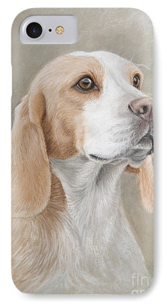 Beagle Portrait IPhone Case by Tobiasz Stefaniak