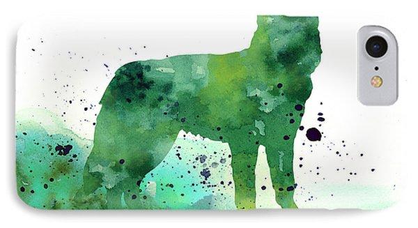 Siberian Husky Dog Silhouette Watercolor Art Print Painting IPhone Case by Joanna Szmerdt