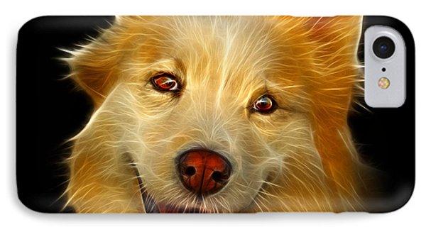 Siberian Husky Mix Dog Pop Art - 5060 Bb IPhone Case