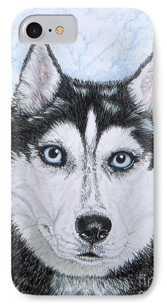 Siberian Husky Phone Case by Yvonne Johnstone