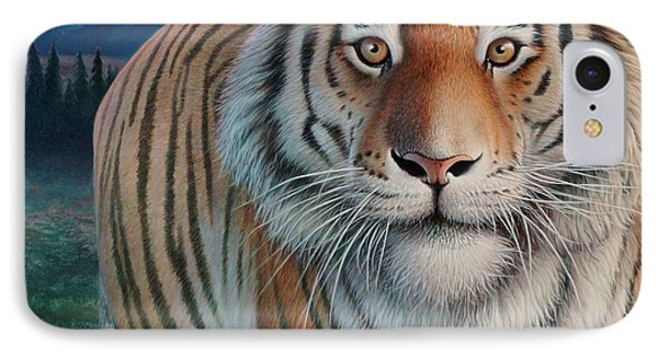 Zoofari Poster The Siberian Tiger IPhone Case by Hans Droog