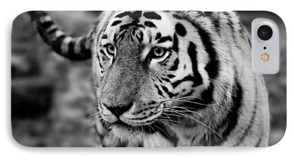 Siberian Tiger Monochrome Phone Case by Semmick Photo