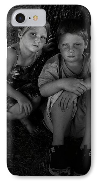 Siblings Phone Case by Julie Dant