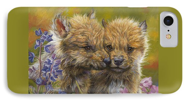 Siblings IPhone Case by Lucie Bilodeau