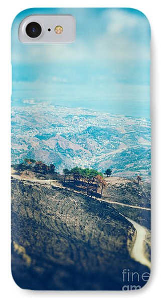 IPhone 7 Case featuring the photograph Sicilian Land After Fire by Silvia Ganora