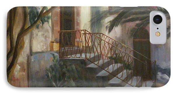 IPhone Case featuring the painting Sicilian Nunnery by Donna Tuten