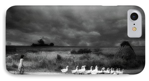 Geese iPhone 7 Case - Sicily by Holger Droste