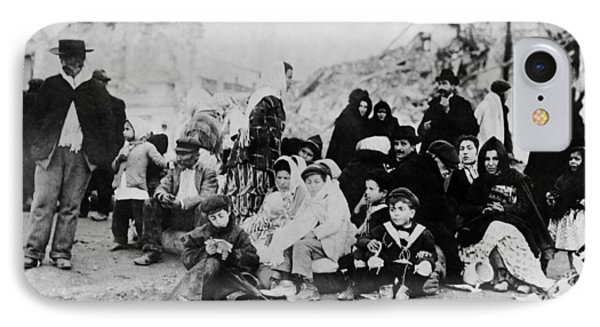 Sicily Refugees, C1909 IPhone Case