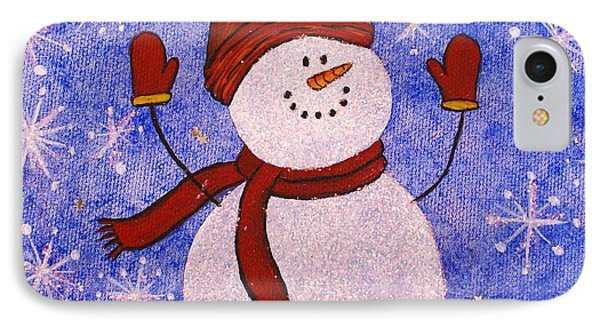 Sid The Snowman IPhone Case by Jane Chesnut