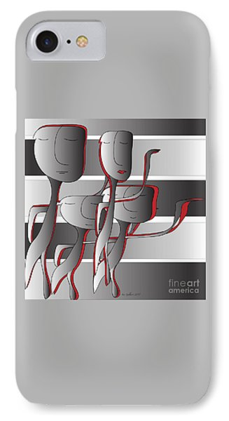 IPhone Case featuring the digital art Side By Side by Iris Gelbart