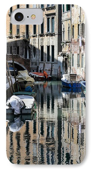 Side Canal Venice IPhone Case by Bill Mock