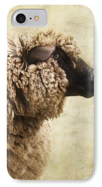 Sheep iPhone 7 Case - Side Face Of A Sheep by Priska Wettstein