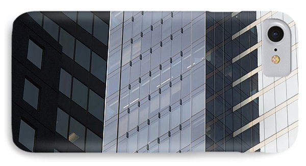 Side Of An Office Towers With Glass Phone Case by Keith Levit