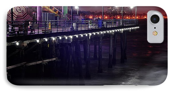 Side Of The Pier - Santa Monica IPhone Case by Gandz Photography