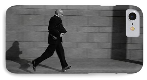 Side Profile Of A Businessman Running IPhone Case
