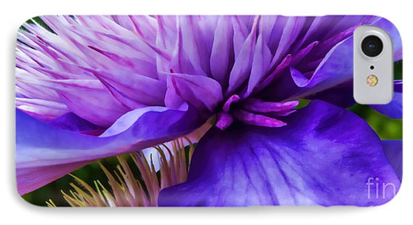 Side View Clematis IPhone Case